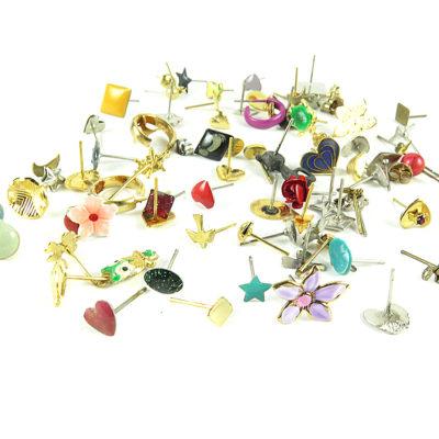 vintage stud mixed earrings