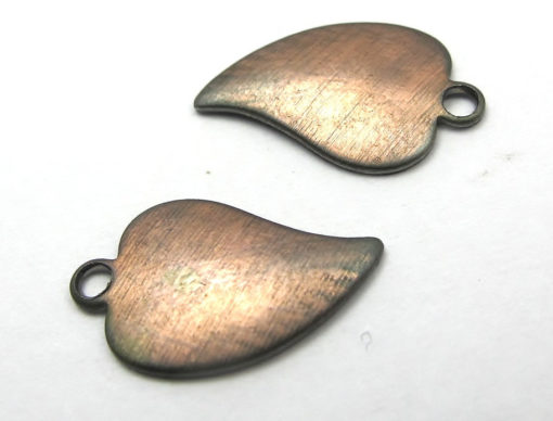Vintage Copper Plated on Steel Leaf Charms