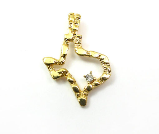 vintage gold plated Texas pendants with cubic zirconia