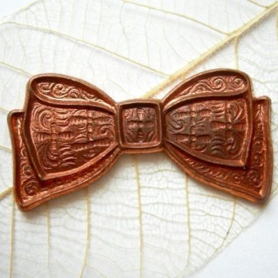 Vintage Raw Copper Bow Pendants