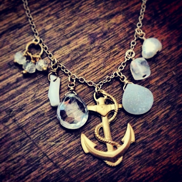 nautical charm necklace