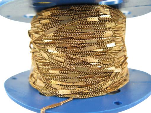 raw brass pressed curb chain