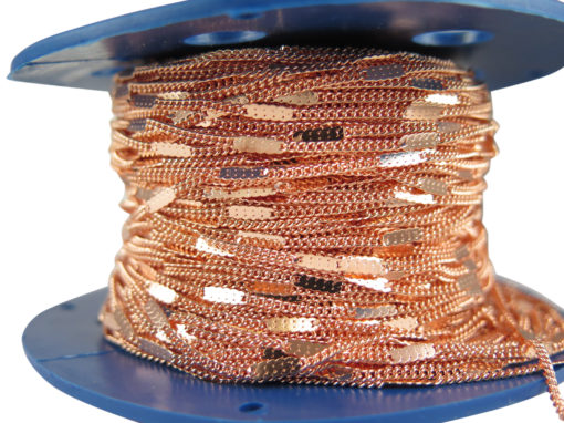 rose gold plated pressed curb chain