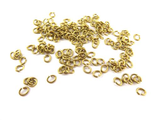 brass 4X3.2 mm jumprings