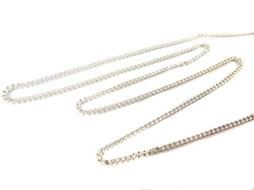 silver plated dainty curb chain