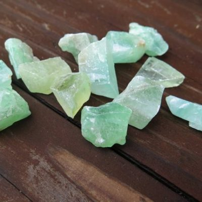aqua calcite rocks