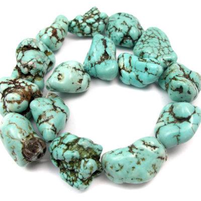turquoise howlite rock beads