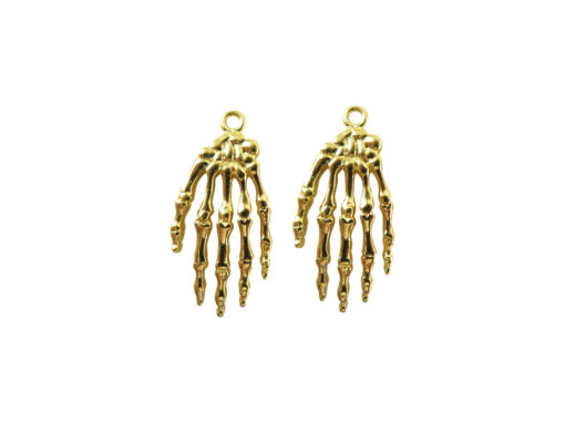 gold plated anatomical hand charms