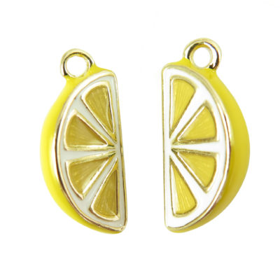 gold plated lemon slice charms