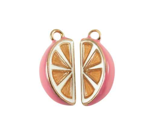 gold plated grapefruit charms