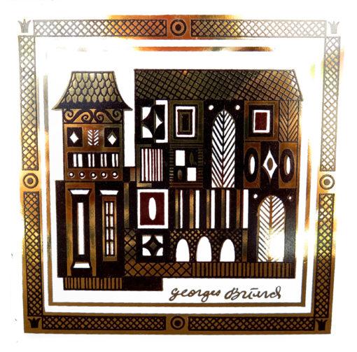 brown gold and black European design house vintage tile