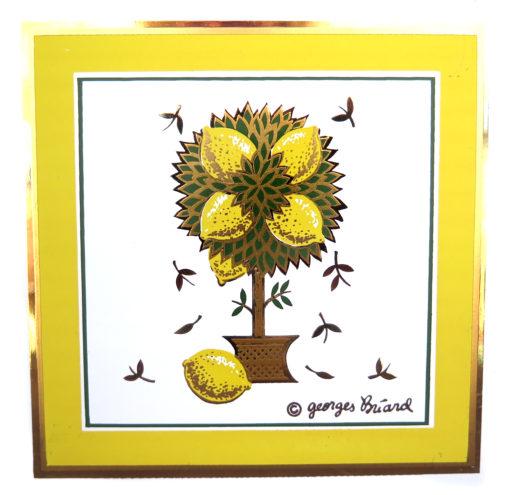 lemon tree vintage tile