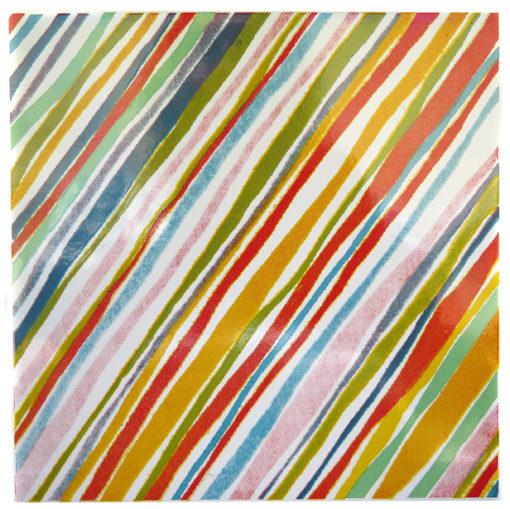 rainbow striped square tile
