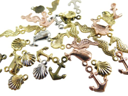 nautical themed charms sea horse sea shell anchor whale