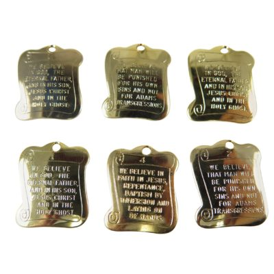 gold plated prayer scroll charm