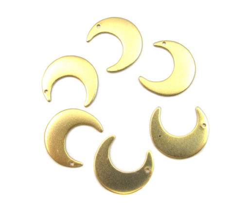 brass moon charm