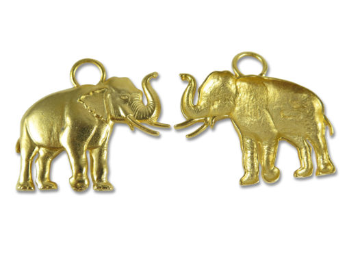 gold plated on white metal huge elephant pendant