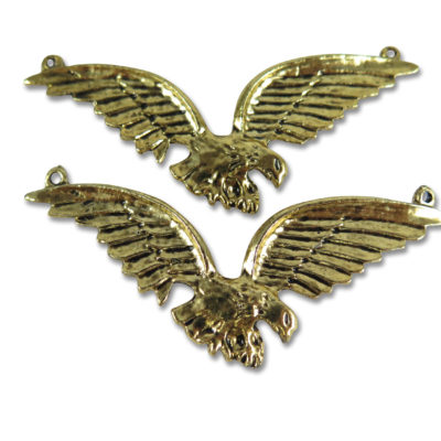 huge gold plated soaring eagle pendants