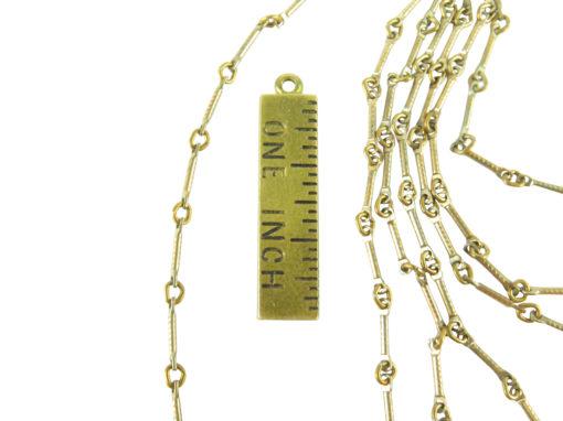 brass plated bar chain