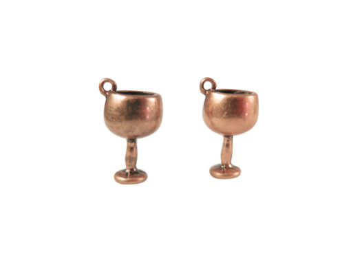 antiqued copper wine glasses