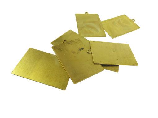large brass rectangle engraving pendants