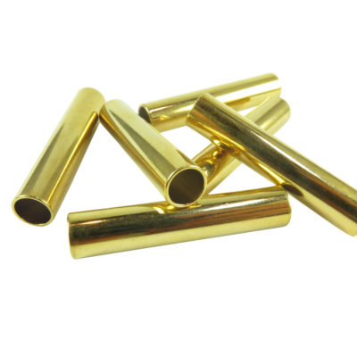 vintage gold plated tube beads 34mm