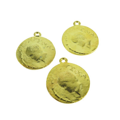 v332 gold plated Yelma coin pendants
