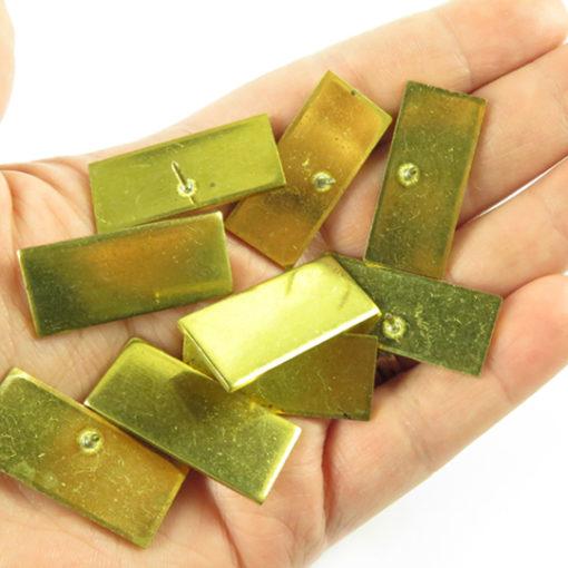 j649 brass rectangle engraving pin