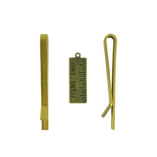 j652 52mm brass tie clip