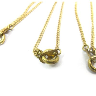 c519 yellow brass curb chain necklaces