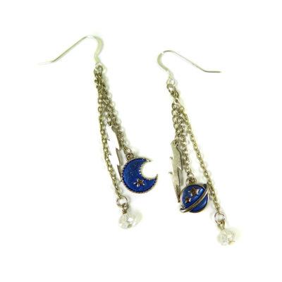 moon lightning earrings