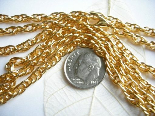 vintage gold plated rope chain necklaces