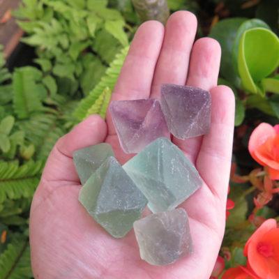 natural fluorite chunks