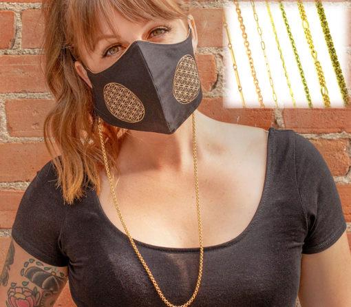 vintage chain mask lace