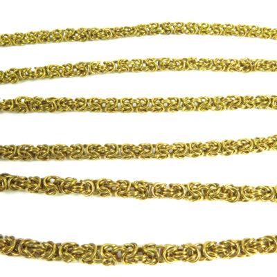 byzantine serpentine vintage chain