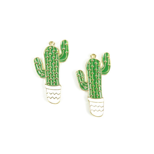 gold plated cactus charm
