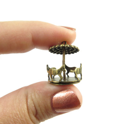 antiqued brass carousel charms