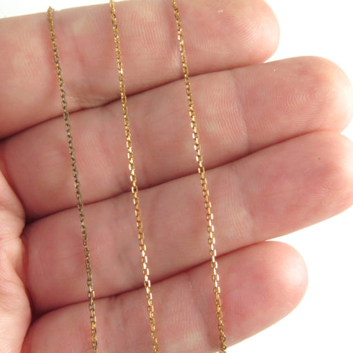 dainty red brass chain