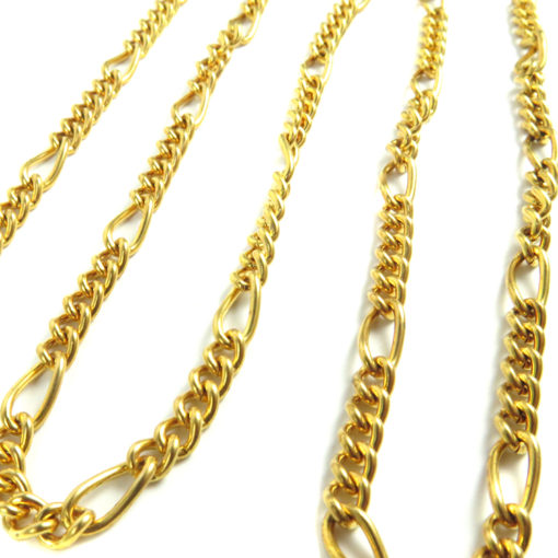 gold plated Figaro chain