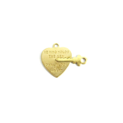 heart lock and key charm
