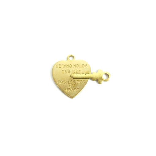 heart lock and key charm