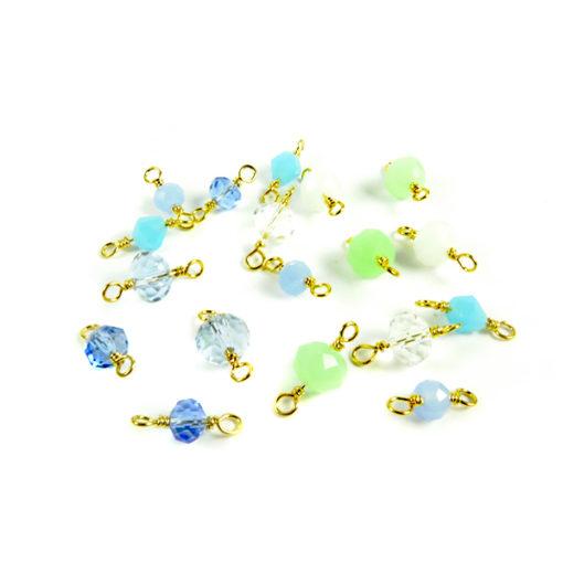 ocean faceted beads