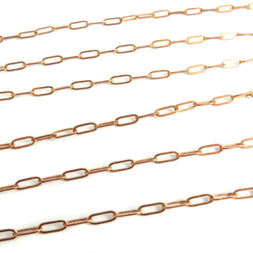 red brass oval cable chain