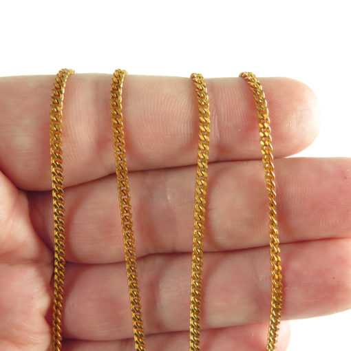 red brass curb chain