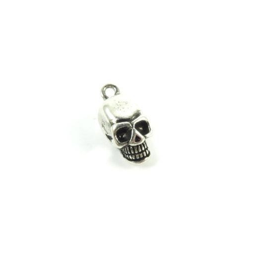 3d skull charms zinc