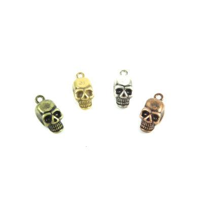 3d zinc skull charms