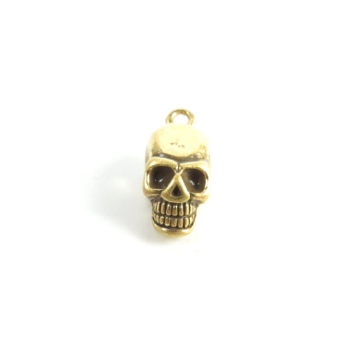 zinc antiqued gold 3d skull charms