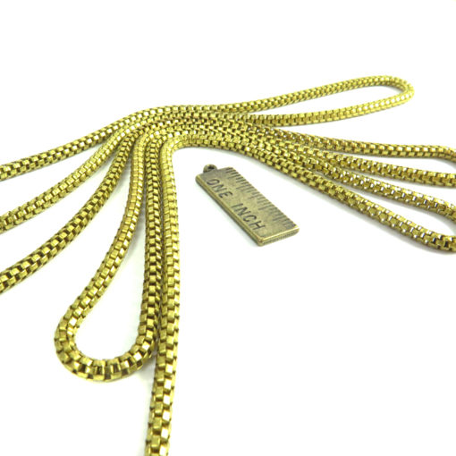 round brass snake chain