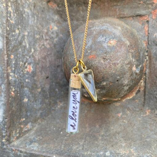 glass vile pendants
