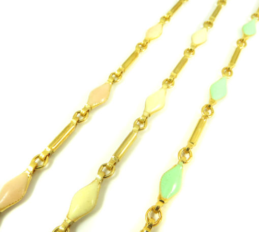 gold and colorful enamel chain